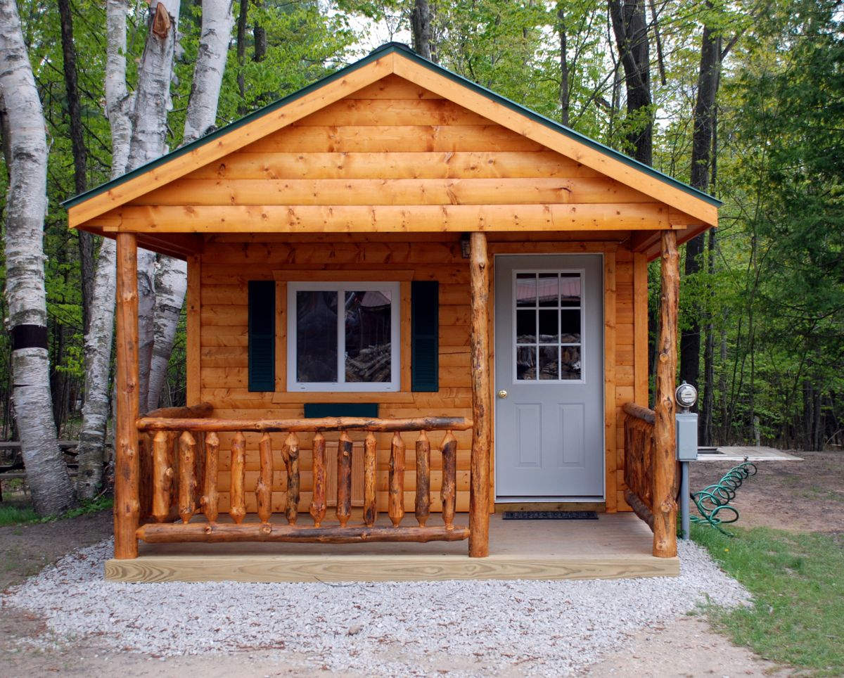 Cabin rentals at river view campground canoe livery for Camp sites with cabins