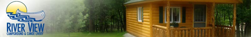 Cabin Rentals at River View Campground & Canoe Livery Image